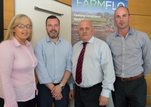 Farmflo staff, Eimear Loughery with Jason Devenney, Patsy Donaghey, CoLab and Gareth Devenney at the launch of Farmflo. Photo Clive Wssson.