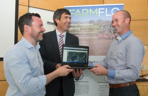 Jason Deveney,Farmflo, Frank McGauran, Syngenta and Gareth Devenney, Farmflo. Photo Clive Wasson