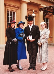 Joe Pat Prunty with his family on the day he received an MBE