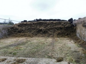 Arable silage pit