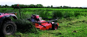Licking method, using a tractor or quad, has the advantage of being applied primarily to the target plant - rushes or other tall weeds, and has been shown to use about 1/3 of the amount of pesticide.