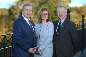 Minister of State, Employment, Business, EU Digital Single Market and Data Protection, Pat Breen, CEO of the HSA Dr Sharon McGuinness and Director of Teasasc Prof. Gerry Boyle. Picture: Finbarr O'Rourke