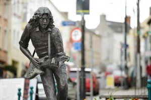 The Rory Gallagher statue in Ballyshannon
