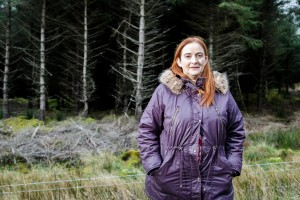 Farmer, Mary Rooney, who is against forestry, near her home in Ballintrillick, Co. Sligo.  Photo: James Connolly 16NOV18