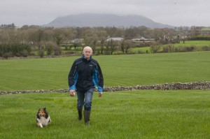 Philip with his dog, Pippa. Photo Brian Farrell