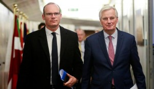 Simon Covney and EU Negotiator Michel Barnier