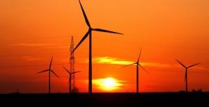 Wind Farms - Sunset