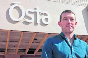 Developer Shane Kerrigan outside the OSTA Restaurant
