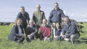 At the Teagasc/Kerry Agribusiness Joint Industry Programme's recent 25th anniversary celebration in Awbeg, Lixnaw, were: Majella Moloney, Teagasc regional manager; Seán McCarthy, Kerry Agribusiness; Prof Gerry Boyle, director, Teagasc; Eddie and Pádraig McCarthy, host farmers; John Collins, Kerry Agribusiness; Nora O'Donovan, Teagasc adviser; and Ger Courtney, programme co-ordinator