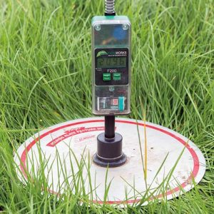 Measuring with a plate meter - Pic. Tim Scrivener