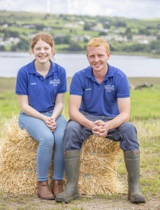 Grace Vaughan with her brother Ashley at Campview Farm in South Donegal.  (North West Newspix)