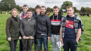 Pictured at a Teagasc Grass10 open day on the farm of Niall Moloney, 2018 Young Grassland Farmer of the Year in Crecora, Co Limerick are lecturer Lorraine Delahunty with Clonakilty Agricultural College students Brian McCarthy, Kenmare, John O'Sullivan, Kenmare, Adam Smith, Clonakilty, Andrew Landan, Watergrasshill, Alan Pyburn, Durrus & Michael Collins, Schull. Picture: O'Gorman Photography