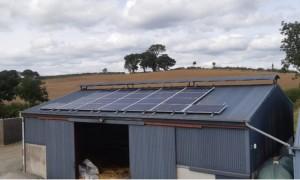 6.5kWp Local Power Ltd install on dairy farm in Cavan