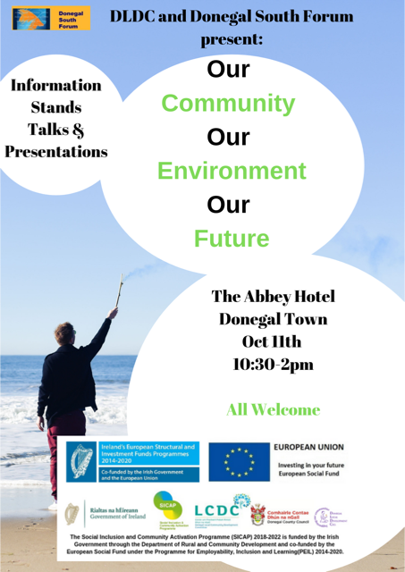 Poster for Our Community, Our Environment, Our Future