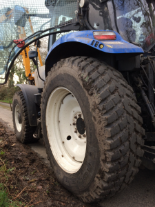 Special sports turf tyres to protect soft ground