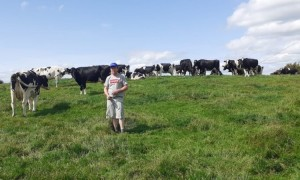 Austin Grealy on his farm in Co. Galway