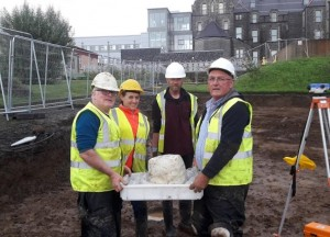 The Bronze Age burial urn unearthed this week at the Shiel Hospital site in Ballyshannon